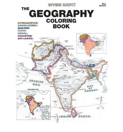 geography coloring book geography coloring book kapit 9780131014725