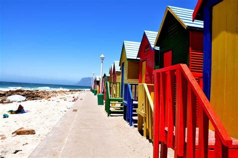 Colorfu Houses Painting photo of the day beach huts at st james