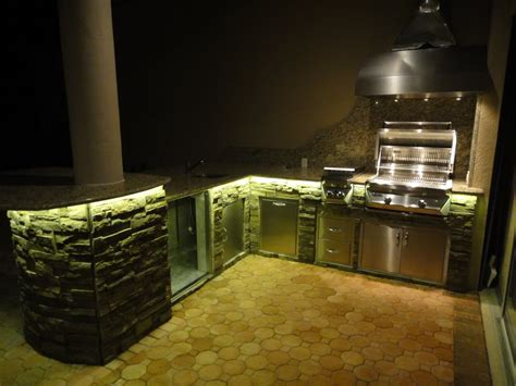 outdoor kitchen lighting fixtures outdoor kitchens with led lighting 36 photos premier