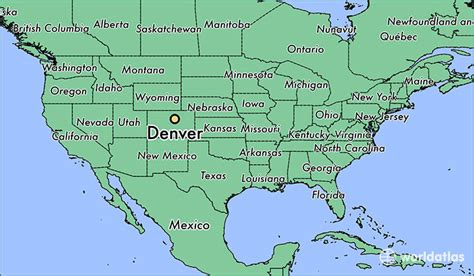 us states map denver where is denver co where is denver co located in the