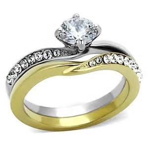 2 tone wedding ring sets wedding sets two tone wedding sets for