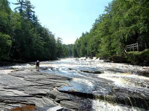 presque isle river picture of porcupine mountains