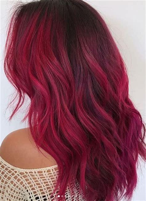 Cut Curl Hair With Cherry Red Colour | capelli rossi i migliori tagli per l inverno 2018