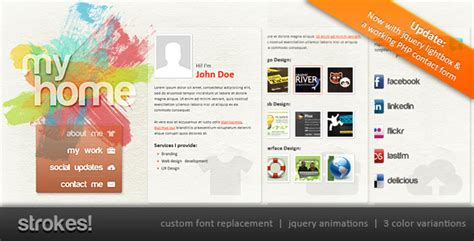 Sues Site With Personal Items by Strokes Personal Website Template By Abogawat Themeforest