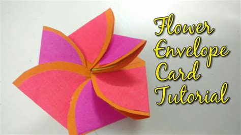 flower envelope card template scrapbook paper flowers tutorial scrapbook paper flower