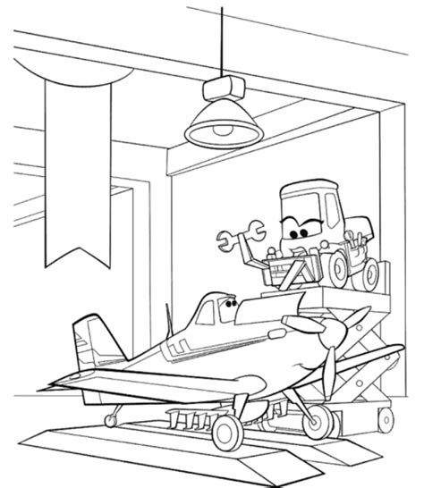 skipper planes movie coloring pages