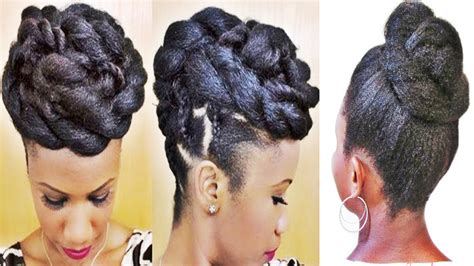 Wedding Hairstyles For Black Ppl by Braids And Twists Updo Hairstyle For Black
