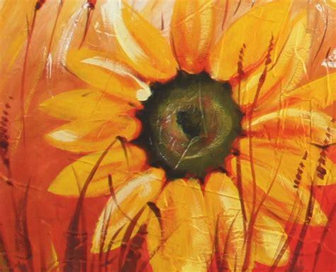fiori dipinti quadri con fiori moderni dipinti girasoli