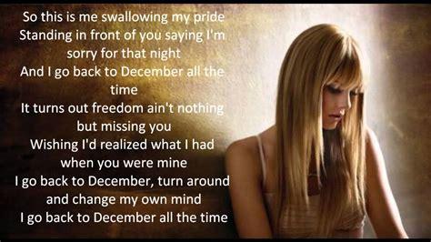 taylor swift back to december vertaling back to december european version taylor swift lyrics