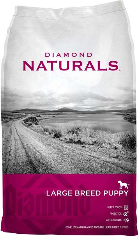naturals puppy naturals large breed puppy formula food 40 lb bag chewy