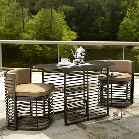 Grand Resort Patio Furniture Grand Resort Perdido 3 Nesting Bistro Set Neutral Outdoor Living Patio