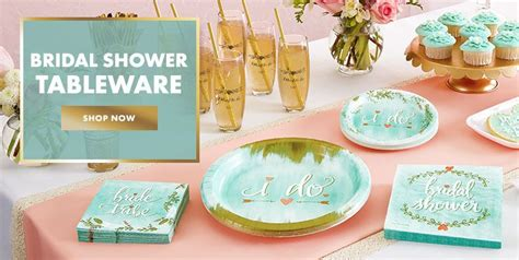 theme bridal shower tableware bridal shower supplies bridal shower themes
