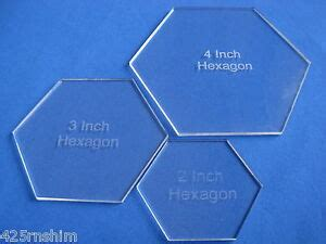 hexagon quilt template plastic hexagon template ebay