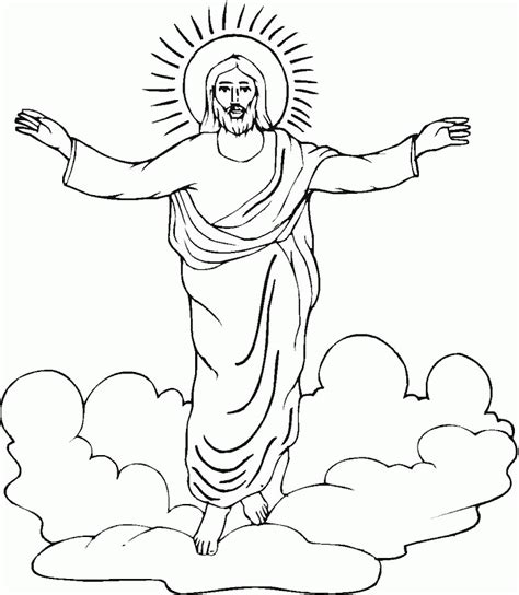 coloring page of jesus ascension jesus ascension coloring page coloring pages pictures