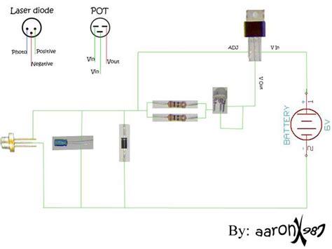 laser diode wiring disassembled key chain laser laser pointers