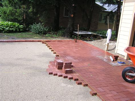 Laying Pavers For Patio A Back Bustin Paver Job Fros Carpentry