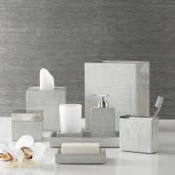 Silver Bathroom Accessories Delano Silver Bath Accessories By Kassatex Gracious Style