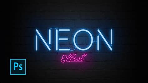 tutorial edit vscom how to create neon text effect with photoshop photoshop
