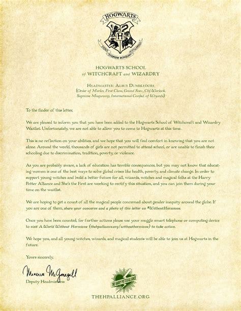 hogwarts rejection letter viral good