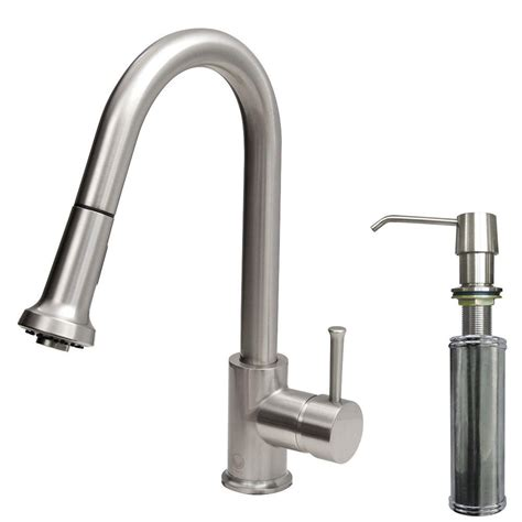 kitchen faucet with sprayer and soap dispenser 2018 vigo single handle pull out sprayer kitchen faucet with soap dispenser in stainless steel