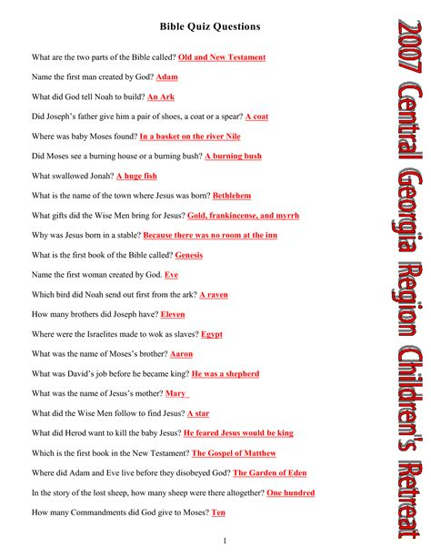 answers to your bible questions books 5 best images of free printable bible study questions