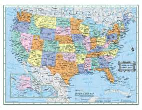 usa united states wall map 22 quot x17 quot large print laminated
