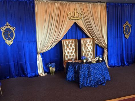 Royal Blue And Gold Baby Shower Ideas royal prince parents to be table setting navy blue gold