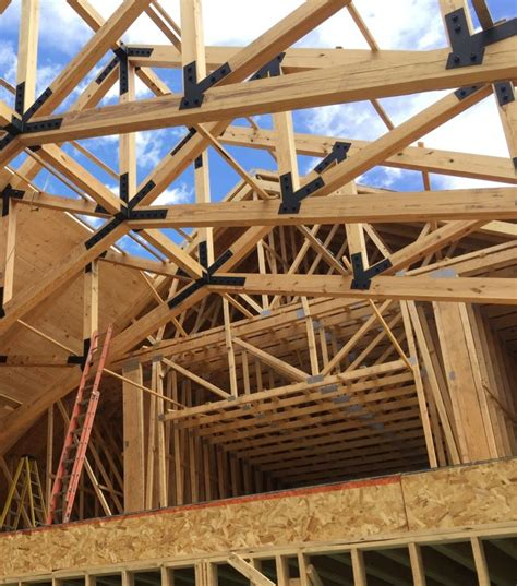 large timber trusses structural timber trusses industrial wood products