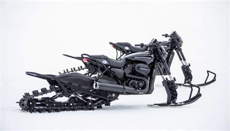 Harley Davidson Tanggal Black harley davidson pamerkan rod 750 quot snow bike quot yang unik