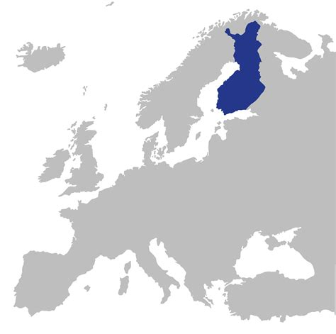 on the map finland on the european map finland toolbox