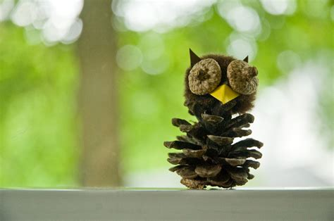 owl creations from pine cones and fluff kid s crafts 8 things to make from acorns pine cones and leaves cotton ridge create