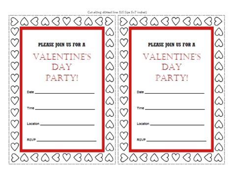 free printable valentine birthday invitations valentine s day party invitations free printable