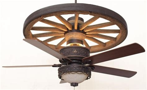 Copper Cheyenne Wagon Wheel Ceiling Fan