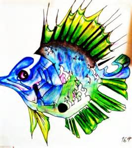 colorful drawings colorful fish by sermyn on deviantart