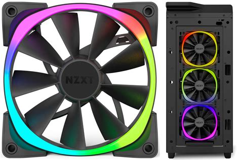 nzxt aer rgb fans nzxt launches aer rgb led pwm fans techporn