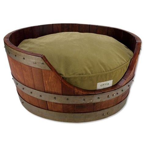 Wine Barrel Bed by 10 Things To Turn Into Pet Beds Furnish Burnish