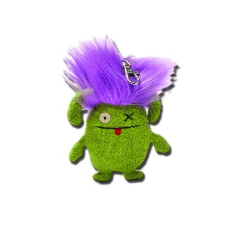 ox bad uglydoll bad hair day ox purple hair keychain 4 inch plush