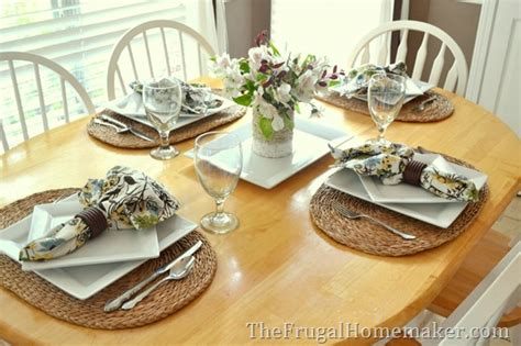 Dining Room Table Setting Dishes by How To Set A Pretty Table With Yard Sale Finds Tablescape