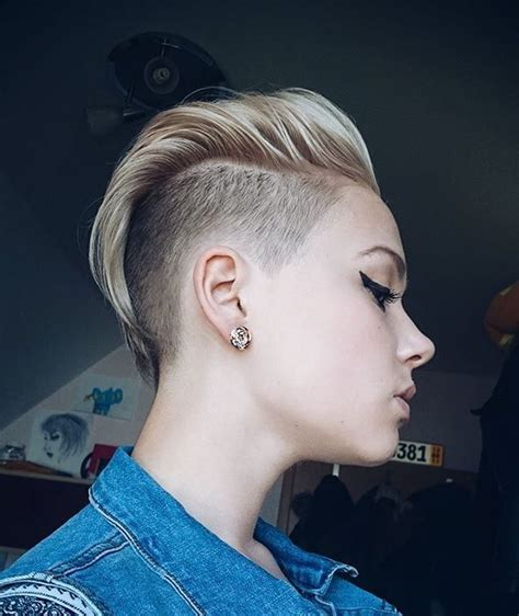 shaved sides long top extensions extensions beim undercut