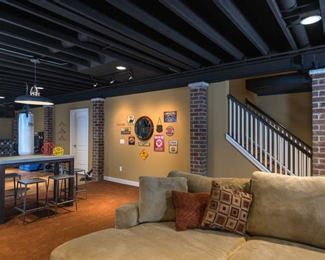 how to paint basement ceiling enchanting of