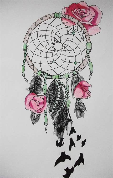 dreamcatcher with roses tattoo 36 dreamcatcher with roses tattoos ideas
