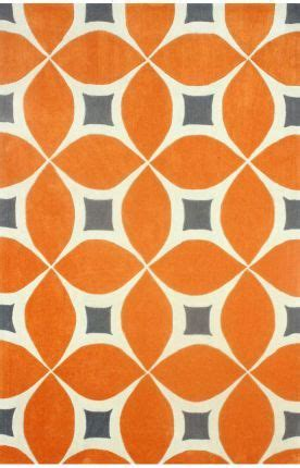 orange modern rug rugs usa radiante trellis bc55 orange rug orange