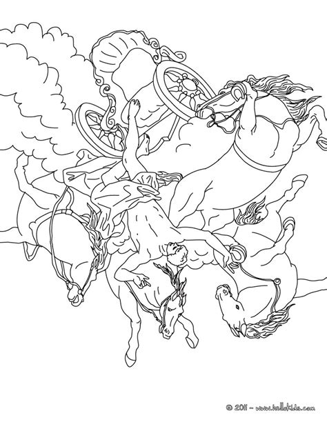 phaeton and the chariot of the sun coloring pages