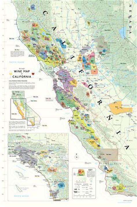 california map poster california wine map poster print by allposters ie