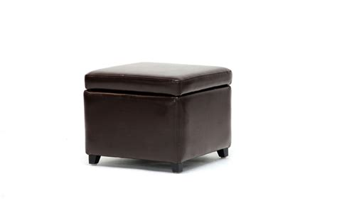 small square storage ottoman linden brown leather small storage cube ottoman with