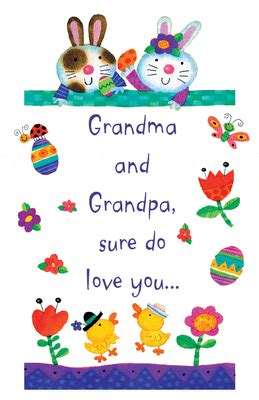 printable greeting cards for grandparents day love you grandparents greeting card easter printable