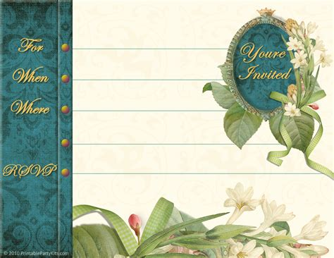 free printable party invitations printable vintage