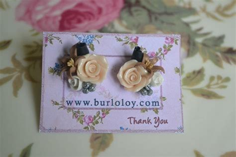 Handmade Polymer Clay - handmade polymer clay flower earrings a by burloloy on