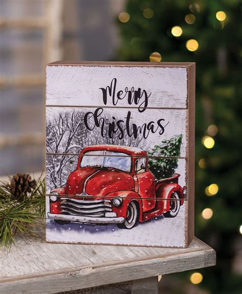 house designs wholesale merry christmas red truck box sign craft house designs