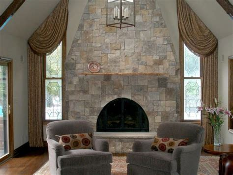 natural stone fireplace natural stone fireplaces rooms hgtv